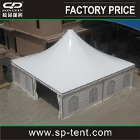 10X10m pagoda tent with aluminum double-wing door units used as garden cottages