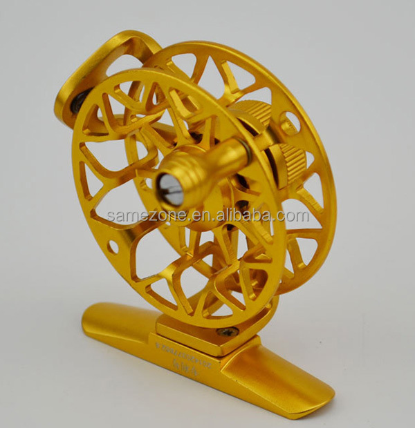 salmon Classic Fly Fishing Reel Clicker Disc Drag System CNC Machine Cut 50g Aluminum Fly Reel