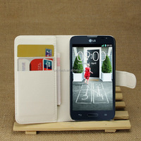 Various color soft touch for LG smartphone L70 wallet case