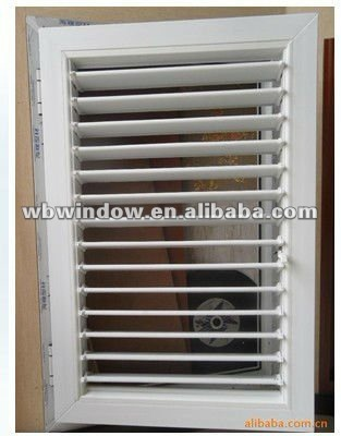 White PVC well-ventilated window