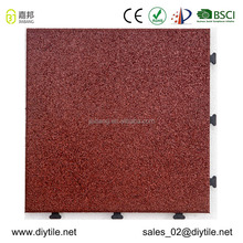 Recycle gym rubber flooring mat interlocking floor outdoor decking tile