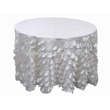 Fancy elegant wedding round petal taffeta table cloth
