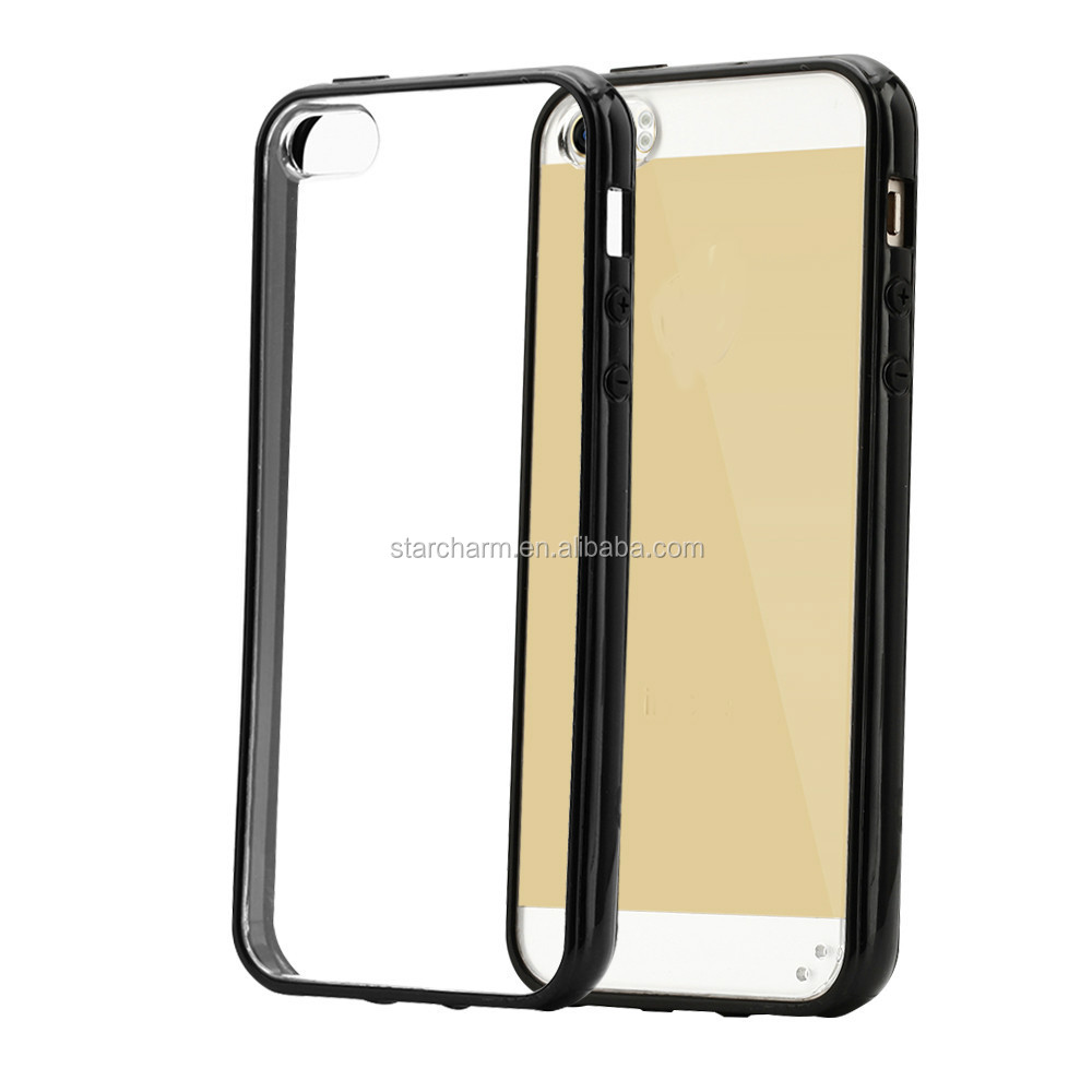 Pc Bumper Soft Clear Transparent tpu Mobile phone case for iphone5s