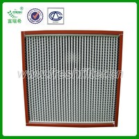 Heat-resistance HEPA air filter for oven equipment