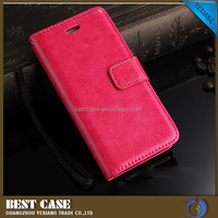 China suppliers cellphone cover for samsung galaxy j2 flip wallet leather case book style flip can stand