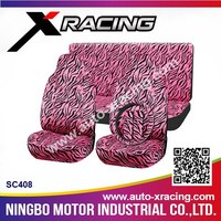 XRACING SC408 car seat cover,purple car seat covers,zebra car seat covers