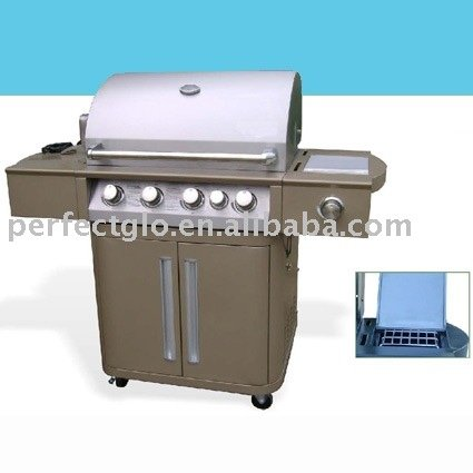 partial stainless steel construction Camping bbq grill