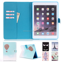 Lovely Cartoon Printing Leather Case Magnetic Flip Stand Case For iPad Air 2/iPad 6