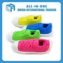 custom printed shoes shape erasers