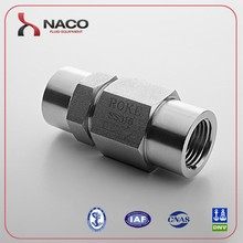 1/4 NPT Hydraulic Female Stainless Steel Spring Loaded Check Valve