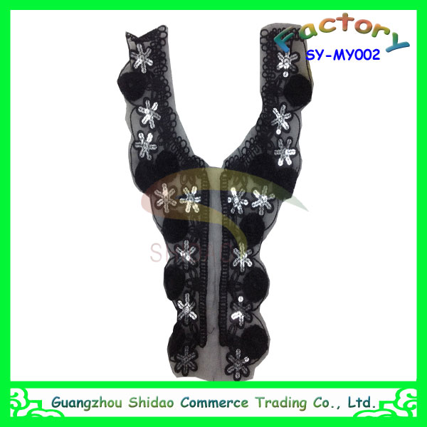 Fashion Sexy Neck Design of Blouse,Lace Collar,Patches