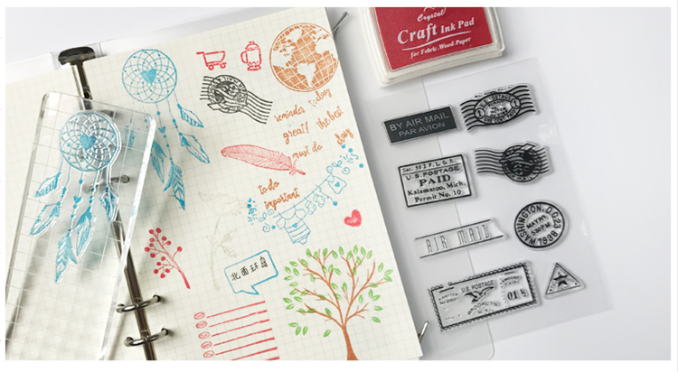 custom made scrapbooking clear stamps