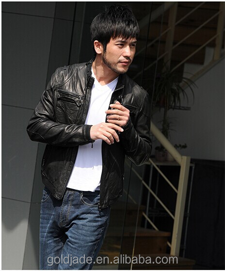OEM soft thin casual slim fit x-men leather jacket