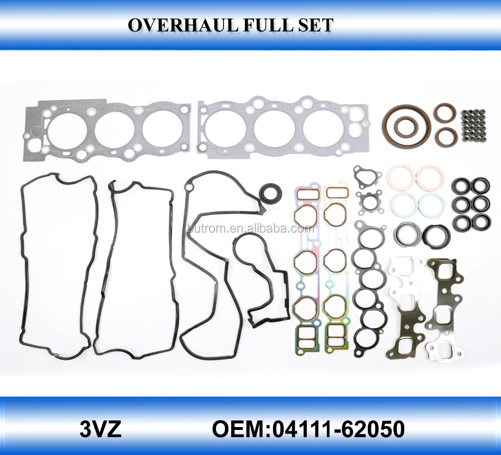 Stock engine part 3VZE OEM:04111-62050 top gasket kit
