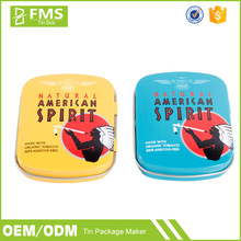 Promotional Wholesale Custom Printed Luxury Cute Mini Small Metal Tin Packaging Box For Match