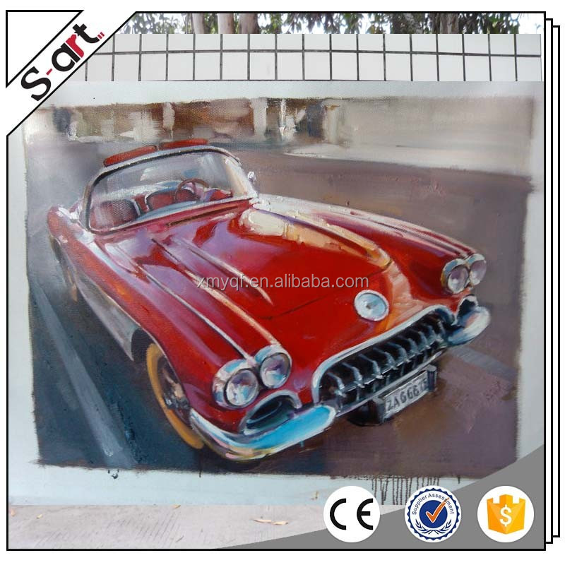Museum quality wall art abstract car handpainted high end oil painting