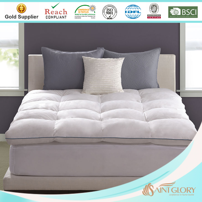 Saint Glory- Mattress topper for queen size bed Single Or Double Layer Mattress Pad