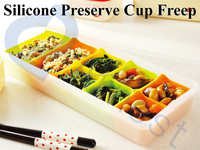 kitchenware cooking tools frozen food packaging plastic case silicone kitchen utensil storage container bento lunch cases 75815
