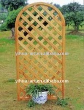 wooden design garden fence