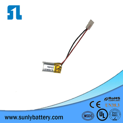 20mah lion battery,3.7v for Bluetooth with UL certificated