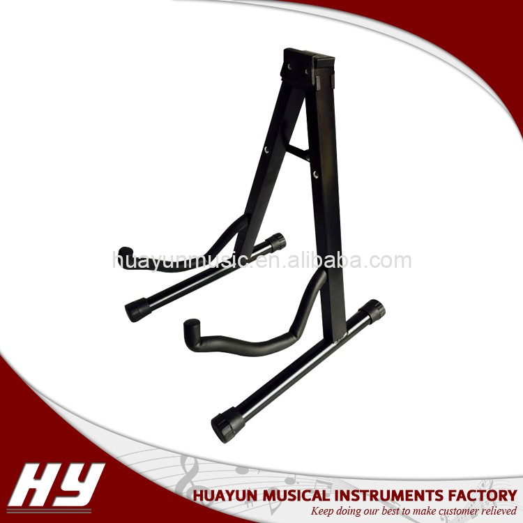 A-frame acoustic guitar stand folding , portable stand holder for wood and electric guitar