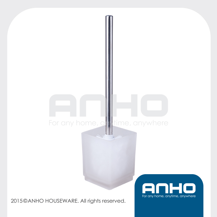 toilet brush with square glass holder