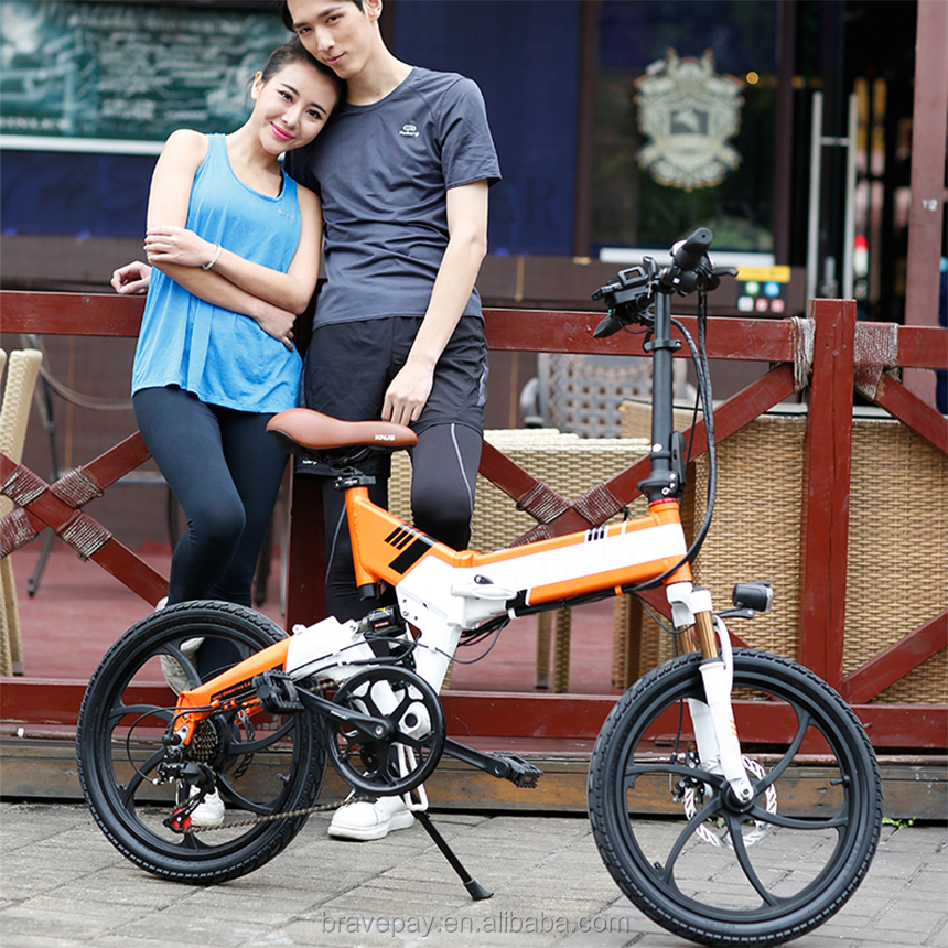 20 inch 48V hidden LG battery EN15194 certificated electric <strong>folding</strong> bikes with cheap electric bike kit
