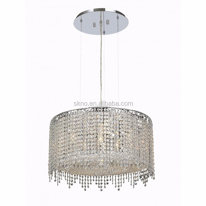 Round Stainless Steel Crystal Lighting Chandelier