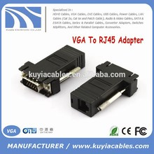 Hot selling VGA TO RJ45 CAT5 CAT6 Adapter Lan cable Extender Connector
