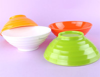 Plastic Thread colored mixing bowls