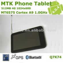 MTK6575 Android 4.0 tablet pc 7 inch with Phone Function