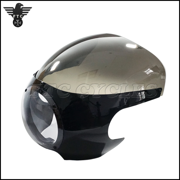 Aftermarket Custom Black Motorcycle Fairing for Kawasaki Cafe Racer