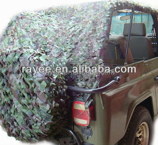 paintball equipemt 210D 420D 500D woodland camouflage netting fabric (PU coated), redes de camuflaje