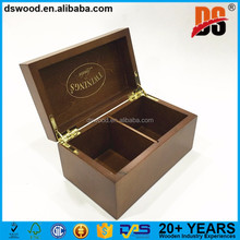portable MDF 2 packets tea cup box with lock