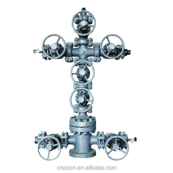 API 6A 35MPa PR1 and PR2 Double-channel wellhead valves and christmas tree for oil drilling and gas
