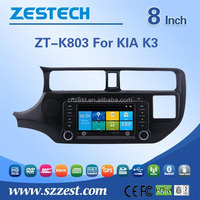 2 din car radio with navigation china for Kia Rio/K3/Pride car parts accessories with GPS SWC DTV ATV 3G Wifi ATV BT V-10disc
