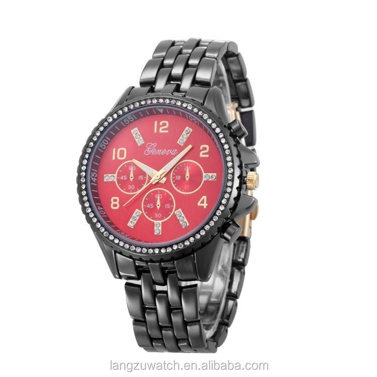 crystal face and case women watches wholesale bulk with alloy band
