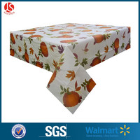 Crystal Flower Pattern Printed Plastic Tablecloth Eva Table Cover