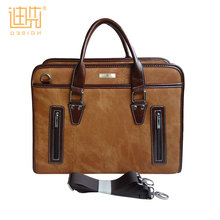2017 Guangzhou Executive briefcase Fresh new design men leather brown travel portable tote briefcase for business men lawyer