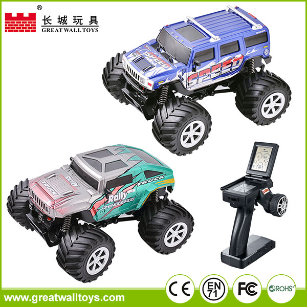 1:34 remote control vehicle plastic powerful big scale rc toy monster truck