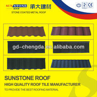ceramic red stone building material steel roof tile