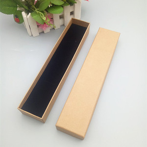 Low MOQ cheap brown kraft paper rectangle shape watch storage gift box