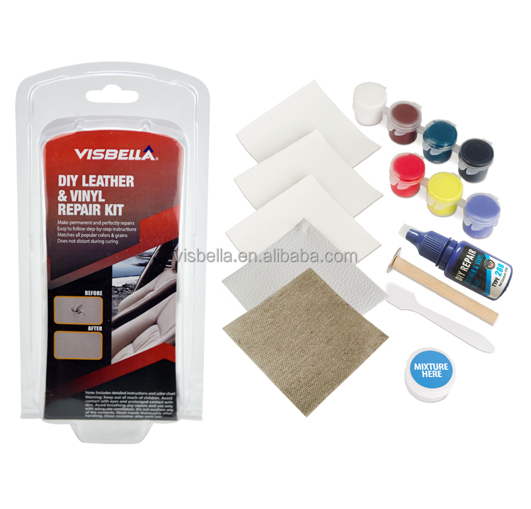Visbella LG0050WE5P DIY Leather vinyl <strong>adhesive</strong> for Sofa Jacket, Car Seat