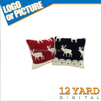 Jacquard sherpa cushion with deer pattern decorative felt cushions& pillow filling case