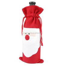 Christmas gift Santa Claus plush red single wine bottle bags M6072902