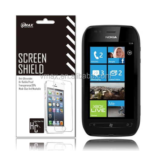 TFT screen protector for Nokia lumia 710 oem/odm (High Clear)