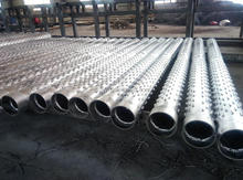 Stainless steel perforated pipe/bridge slotted screen pipe/perforated tube for sand control