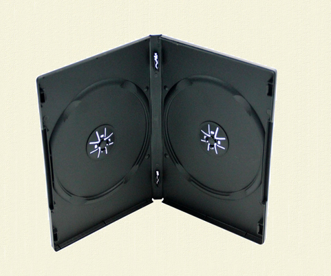 Plastic DVD CASE double cd/dvd COVER 9mm