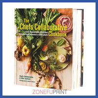 Hardcover Recipe Book Full Color Printed By 2.5MM Cardboard With Matt Lamination Printing For Cook Book Only