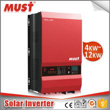 MUST Hybrid solar inverter power 10kw 1 phase solar off grid inverter with battery bank up CE certified